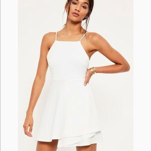 9a1487c764b ... NWT Missguided Square Neck Open Back Skater Dress ...